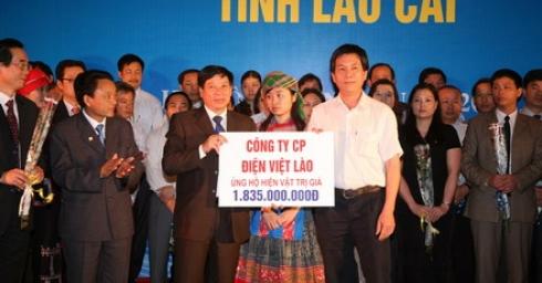 VLPC ủng hộ 03 huyện nghèo của tỉnh Lào Cai hơn 1,8 tỷ đồng