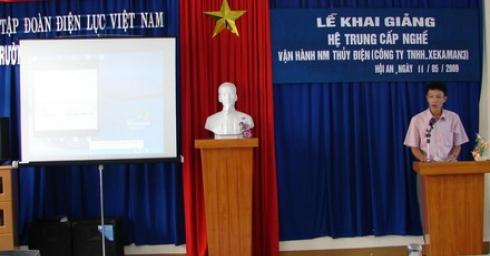 Khai giảng lớp Trung cấp nghề vận hành Nhà máy thuỷ điện Xekaman 3