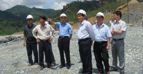 Tổ công tác Ban chỉ đạo Nhà nước Quy hoạch điện VI thăm và làm việc tại công trường thuỷ điện Xekaman 3