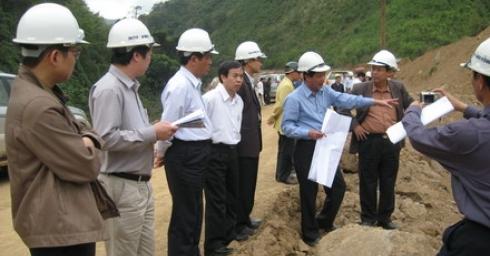 Tổng Giám đốc TCT Sông Đà thăm và kiểm tra công tác thi công Công trình thuỷ điện Xekaman3