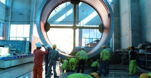 STATOR OF UNIT 2 OF XEKAMAN XANXAY INSTALLED