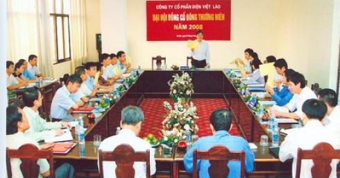 Đại hội đồng cổ đông thường niên năm 2008 Công ty cổ phần điện Việt - Lào