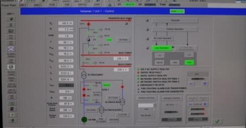 Các thông số kỹ thuật của Tổ máy số 1 - NMTĐ Xekaman1 tại thời điểm sa thải phụ tải ở mức 100%