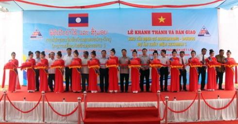 Lễ khánh thành và bàn giao khu tái định cư Souk Savang-Dakbou dự án thủy điện XEKAMAN1