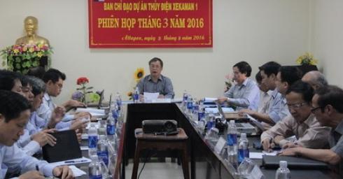 Họp thường kì ban chỉ đạo TCT sông Đà dự án thủy điện XEKAMAN1 tháng 3 năm 2016