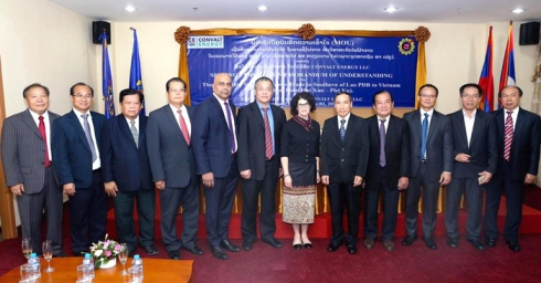VIETLAOPOWER ATTENDS SIGNING CEREMONY OF MOU ON FEASIBILITY STUDY OF 500KV LINE FROM SOUTHERN LAOS TO VIETNAM
