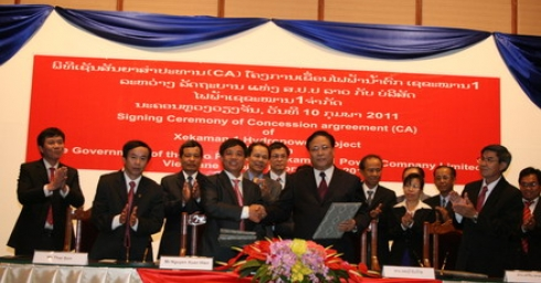 Concession Agreement of Xekaman 1 Hydropower Project signed